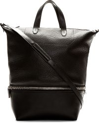 Alexander Wang - Black Leather Convertible Tote And Messenger Bag - Lyst