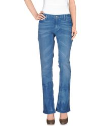 Ralph Lauren Denim Trousers blue - Lyst