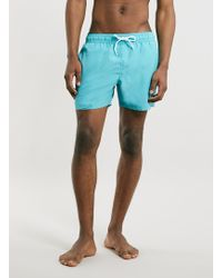 Topman Aqua Neptune Swim Shorts - Lyst