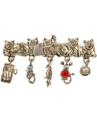 TOPSHOP - Freedom Found Collection Cat Charm Brooch  Multi - Lyst