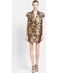 Lanvin Short Sleeve Brocade Jacket - Lyst