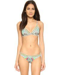 Camilla Soaring Soft Bra And Mini Hipster Bikini - Green