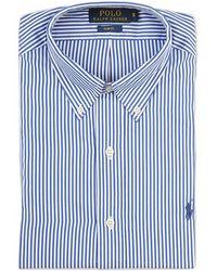 Ralph Lauren Blue Label Striped Slim Fit Shirt blue - Lyst