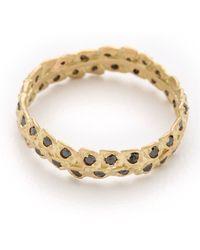 Jamie Wolf - Black Diamond Filigree Ring - Gold - Lyst