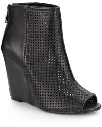 Ash June Perforated Wedge Ankle Boots - Lyst