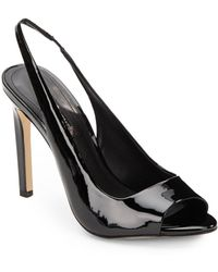 BCBGeneration Carley Faux Patent Sling-Back Peep-Toe Pumps - Lyst