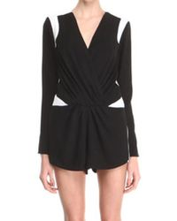 Finders Keepers Finders Keepers Lose Yourself Long Sleeve Romper - Lyst