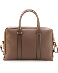 Tom Ford Buckley Zip Briefcase - Brown