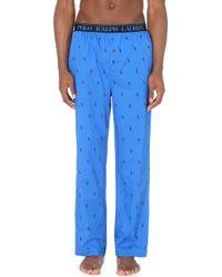 Ralph Lauren Logo-print Cotton Pajama Bottoms - Blue
