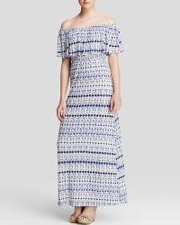 Ella Moss Dress - Cortez Off The Shoulder Maxi blue - Lyst