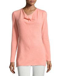 Lafayette 148 New York   Cashmere Long-sleeve Cowl-neck Sweater   Lyst