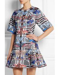 Temperley London Arielle Printed Satin-twill Mini Dress - Lyst