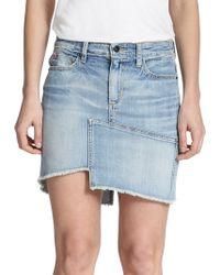 Joe's Jeans Asymmetrical Denim Mini Skirt blue - Lyst