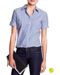Banana Republic Factory Fitted Non Iron Shirt  - Lyst