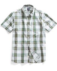 Todd Snyder Gordon Sage Check Short Sleeve Shirt - Lyst