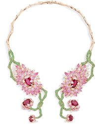 Wendy Yue - Symmetrical Floral Collar Necklace - Lyst