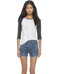 Edith A. Miller Baseball Tee - White/Black - Lyst
