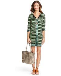 Diane von Furstenberg Rose Two Silk Jersey Tunic Dress - Lyst