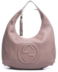Louis Vuitton Pre-Owned Gucci Pink Leather Large Soho Hobo Bag - Lyst