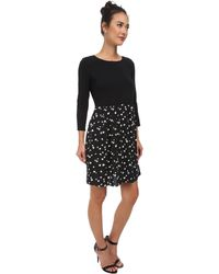 Two By Vince Camuto Feathered Dashes Drop Waist Dress - Lyst