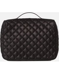 MZ Wallace Zip Round Cosmetic Black Oxford - Lyst