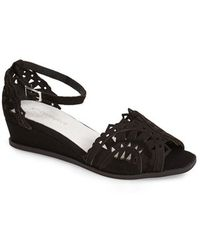 Jeffrey Campbell 'Foray' Ankle Strap Wedge - Lyst