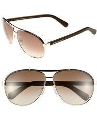 Marc Jacobs Women'S 63Mm Aviator Sunglasses - Gold/ Dark Havana - Lyst