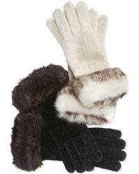 Charter Club - Chenille And Faux Fur Gloves, Only At Macy's - Lyst