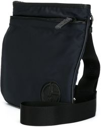 9c3cbc9a8c Giorgio Armani - Leather Trim Shoulder Bag - Lyst