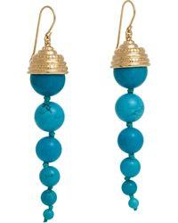 Aurelie Bidermann Long-Drop Earrings - Lyst
