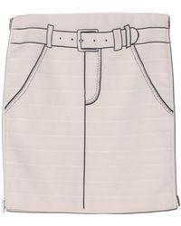 Band Of Outsiders Tromp Loeil Suspender Skirt - Lyst