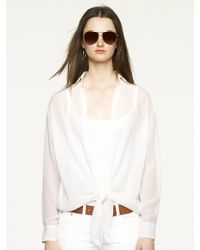 Ralph Lauren Black Label Sheer Silk Shirt - Lyst