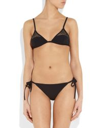 Bottega Veneta - Meshpaneled Triangle Bikini - Lyst