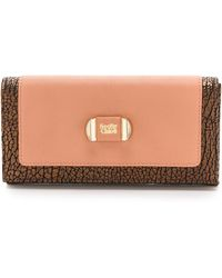 See By Chloé Mina Flat Wallet with Flap - Black - Lyst