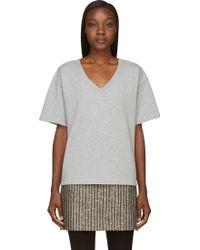 McQ by Alexander McQueen Heather Grey Oversize Sweatshirt - Lyst