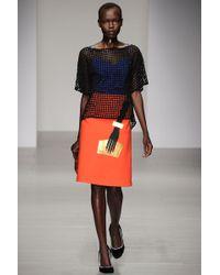 Osman Yousefzada Hand Print Skirt - Lyst