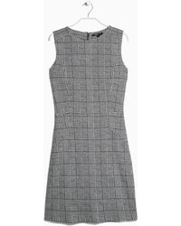 Mango Prince Of Wales Woolblend Dress - Lyst