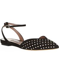 Tabitha Simmons Vera Embellished Suede Flat - Lyst