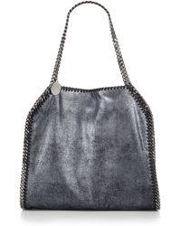 Stella McCartney Falabella Baby Bella Pearlescent Faux-Suede Shoulder Bag - Lyst