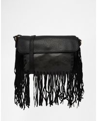 Urban Originals - Fringed Shoulder Bag - Black - Lyst