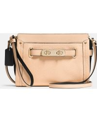 Coach Swagger Wristlet In Colorblock Leather - Lyst