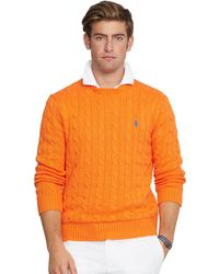Polo Ralph Lauren Cable Knit Cotton Sweater - Lyst