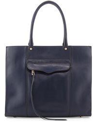 Rebecca Minkoff Mab Medium Leather Tote Bag Ink - Lyst