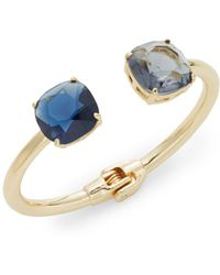 Cara - Two Stone Cuff Bracelet/goldtone - Lyst