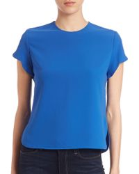 Carven | Scalloped Short-sleeve Blouse | Lyst