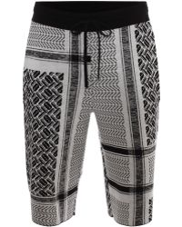 McQ by Alexander McQueen Razor Scarf Jacquard Knit Shorts - Lyst