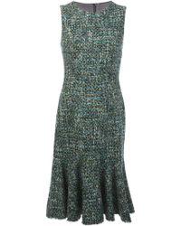Dolce & Gabbana Woven Peplum Dress - Lyst
