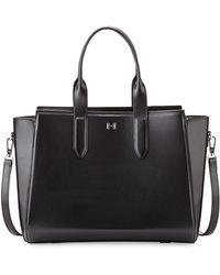 Halston Heritage Leather Eastwest Satchel Bag Black - Lyst