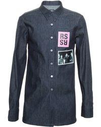 Raf Simons Shoot Denim Shirt - Lyst