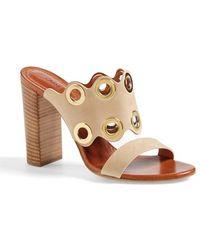 Chloé Flo Leather Slide Sandals - Lyst